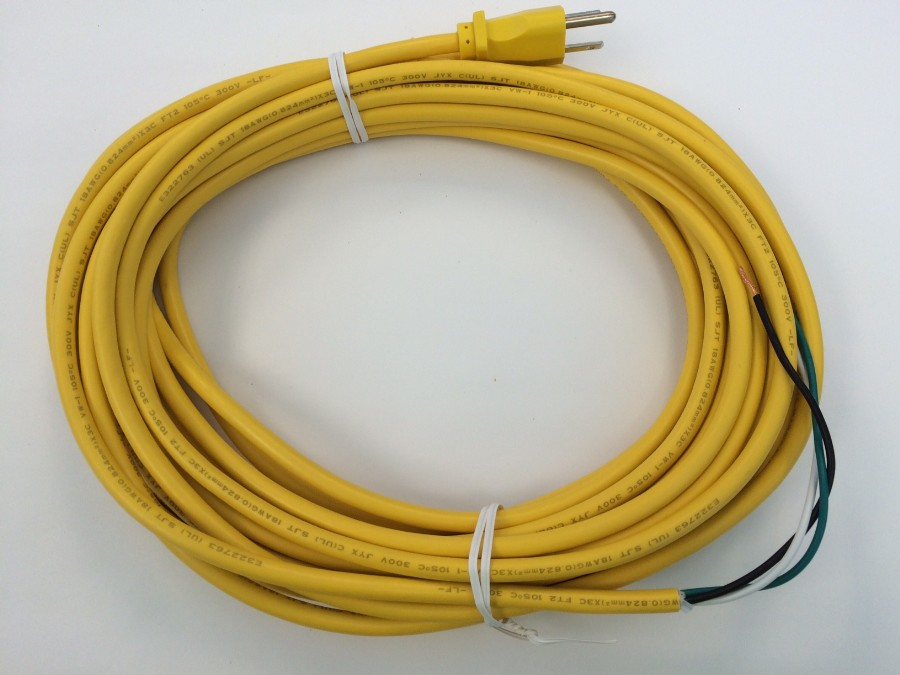3 WIRE CORD 50' 18/3 YELLOW