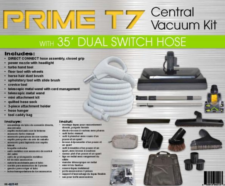 TITAN CENTRAL VAC ACCESSORY KIT 35' WITH KENMORE STYLE PN