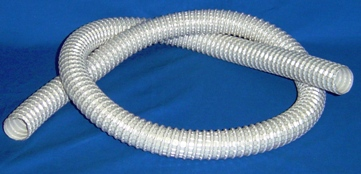 "1 1/4"" GRAY 50' WIRE REINFORCED HOSE"
