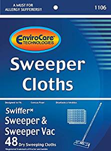 SWIFFER REPLACEMENT CLOTHS, SWEEPER AND SWEEPER VAC 48 PK